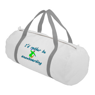 I'd rather be snowboarding duffle bag