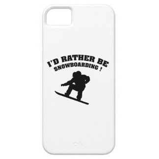 I'd Rather Be Snowboarding iPhone SE/5/5s Case