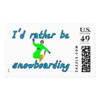 I'd rather be snowboarding stamp