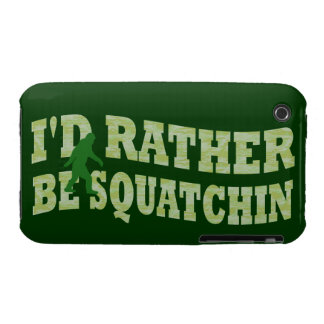 I'd rather be squatchin Case-Mate iPhone 3 case