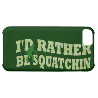 I'd rather be squatchin iPhone 5C cover