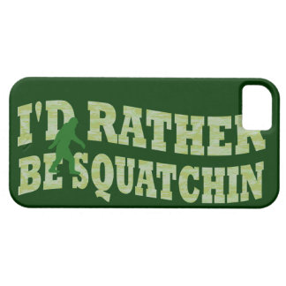 I'd rather be squatchin iPhone SE/5/5s case