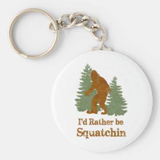 I'd Rather Be Squatchin Key Chains
