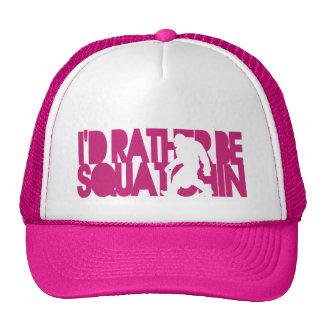 I'd rather be Squatchin' - Pink Mesh Hats