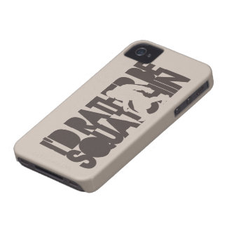 I'd rather be Squatchin tan and brown iPhone 4 Case-Mate Case