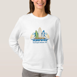 I'd rather be surfing - Add beach name T-Shirt