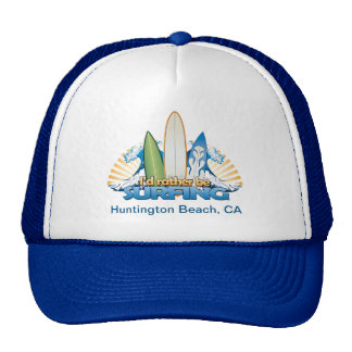 I'd rather be surfing - Add beach name Trucker Hat