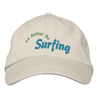 I'd Rather Be Surfing Embroidery Hat Embroidered Hats