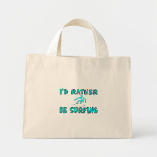 I'd rather be surfing mini tote bag