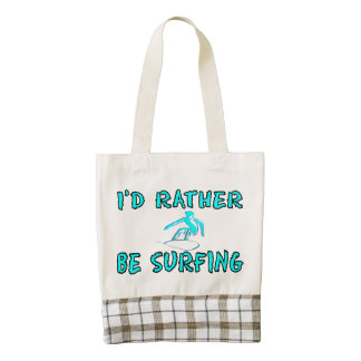 I'd rather be surfing zazzle HEART tote bag