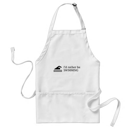 I'd rather be SWIMMING Adult Apron