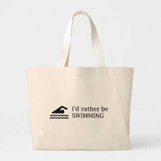 I'd rather be SWIMMING Canvas Bag