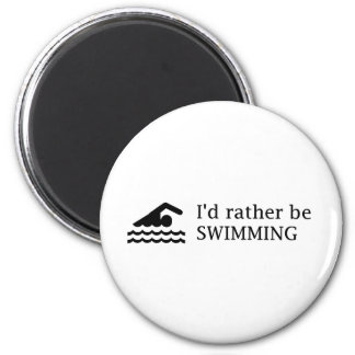 I'd rather be SWIMMING Magnet