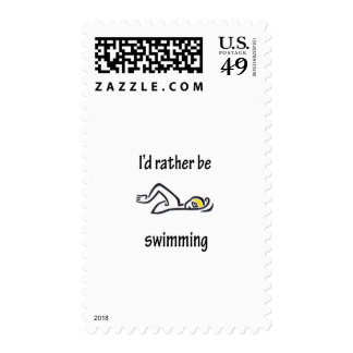 I'd Rather Be Swimming Postage