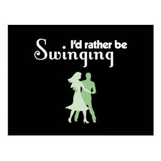 I'd Rather Be Swinging Postcard