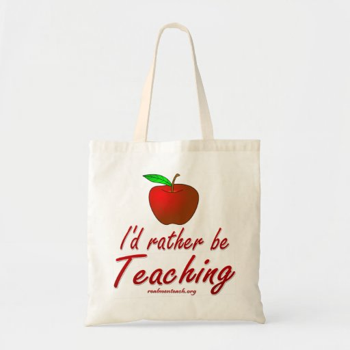 I'd Rather be Teaching Canvas Bags