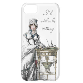 I'd Rather be Texting Regency Fashion Plate iPhone 5C Cover