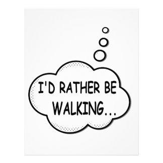 I'd Rather Be Walking Letterhead