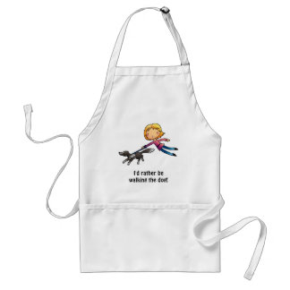 I'd rather be walking the dog adult apron