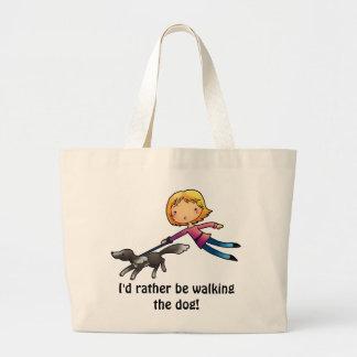 I'd rather be walking the dog bag