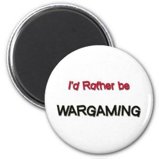 I'd Rather Be Wargaming Magnet