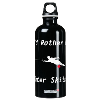 I'd Rather Be Water Skiing Aluminum Water Bottle