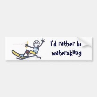 I'd Rather Be Waterskiing - Bumper sticker