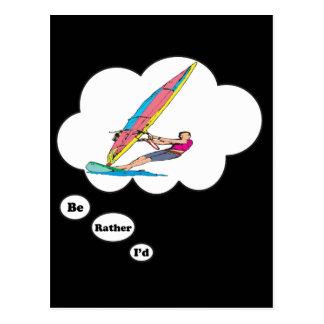 I'd rather be Wind Surfing 2 Postcard
