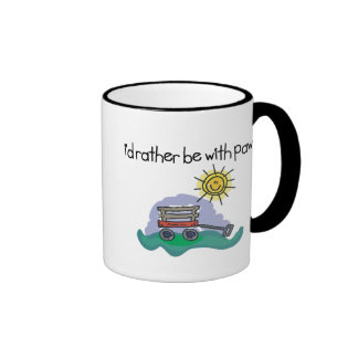 I'd Rather be with Paw Ringer Mug