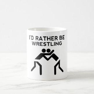 I'd Rather Be Wrestling 11 Oz Magic Heat Color-Changing Coffee Mug