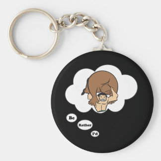I'd rather be Wrestling 2 Basic Round Button Keychain