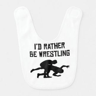 I'd Rather Be Wrestling Baby Bibs