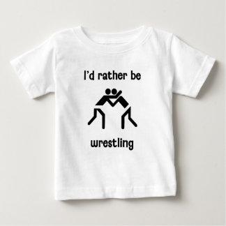 I'd rather be wrestling t-shirt