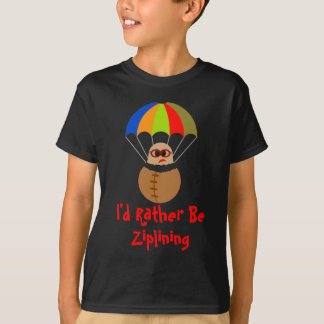 I'd Rather Be Ziplining Kids Tee