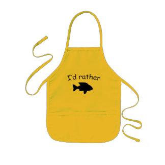 I'd rather fish kids' apron