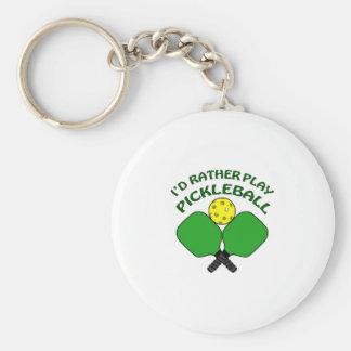 Id Rather Play Pickleball Keychain