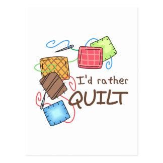 Id Rather Quilt Postcard