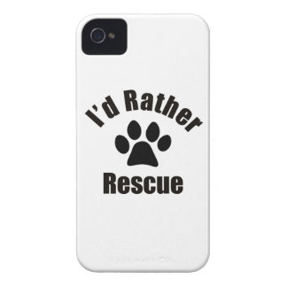 I'd Rather Rescue iPhone 4/4S Case