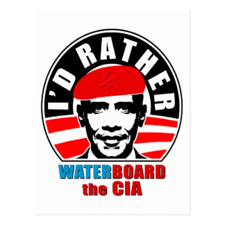 I'd Rather Waterboard the CIA Postcard