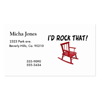 I'd Rock That Rocking Chair Double-Sided Standard Business Cards (Pack Of 100)