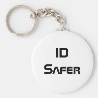 ID Safer Basic Round Button Keychain