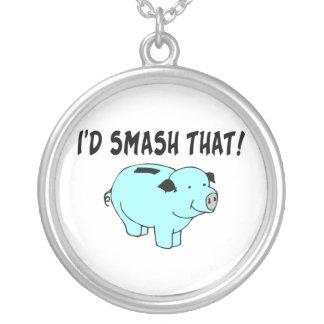 I'd Smash That Piggy Bank Necklace