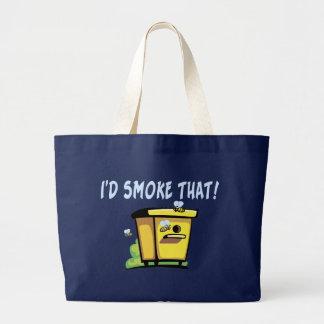 I'd Smoke That Bee Hive Large Tote Bag