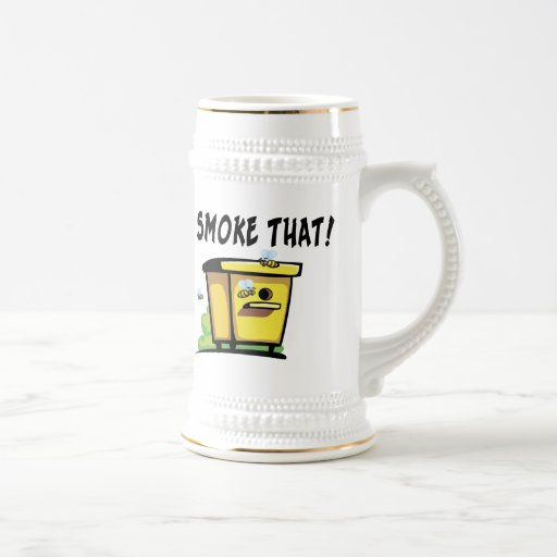 I'd Smoke That Beehive 18 Oz Beer Stein