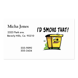I'd Smoke That Beehive Double-Sided Standard Business Cards (Pack Of 100)
