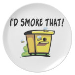 I'd Smoke That Beehive Party Plate
