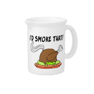 I'd Smoke That Turkey Pitcher