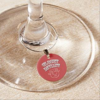 ID Tag 'Closet Deviant' Wine Glass Charm