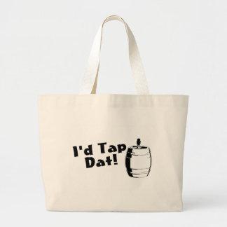 Id Tap Dat Beer Keg Jumbo Tote Bag