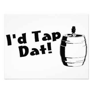 Id Tap Dat Beer Keg Custom Invitations